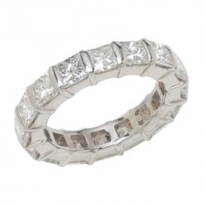 Platinum Princess Diamond Eternity Band