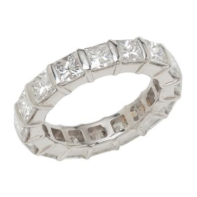 Platinum Princess Diamond Eternity Band