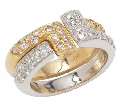 18K Two Tone Convertible Ring