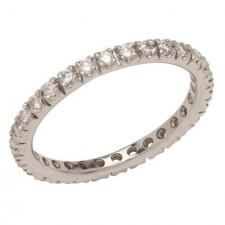 Platinum Round Diamond Wedding Band