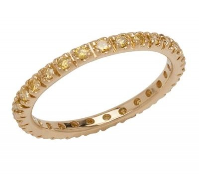 18K Yellow Gold Diamond Wedding Band