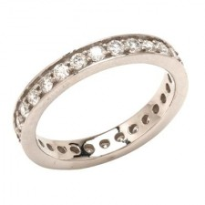 Platinum Round Diamond Wedding Band