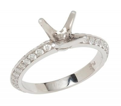 Platinum Knife-Edge Engagement Ring