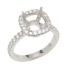 Platinum Engagement Ring With Round Diamonds