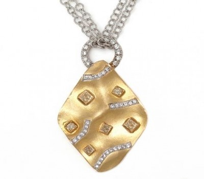 18K Two-Tone Custom Gold Necklace