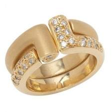 Heart To Heart 18K Yellow Gold Convertible Rings