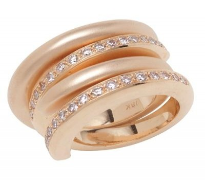 18K Pink Gold Interlocking Ring