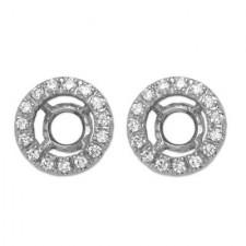 18K White Gold Diamond Earring Jackets