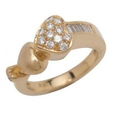 18K Yellow Gold Matte Finish Insert Ring