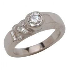 18K White Gold Convertible Insert Ring