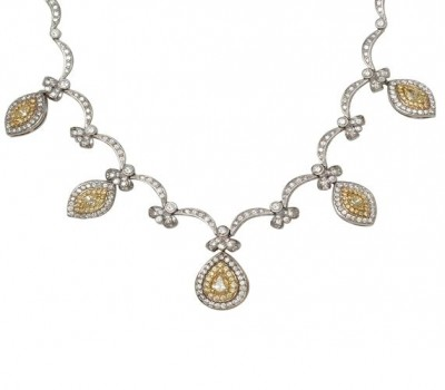 18K White Gold Convertible Necklace