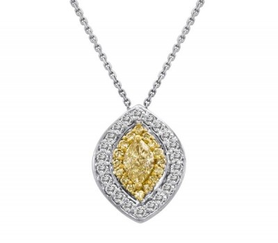 Marquis Fancy Yellow Pendant