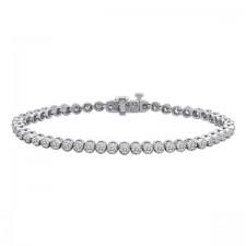 Milgrain Tennis Bracelet