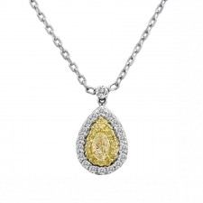 Fancy Yellow Pear Shaped Pendant