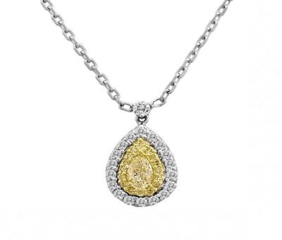Fancy Yellow Pear Shaped Pendant