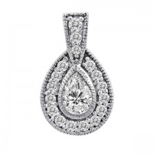 Antique Style Pear Shaped Pendant